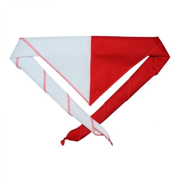Chusta Harcerska 70 Biało-czerwona