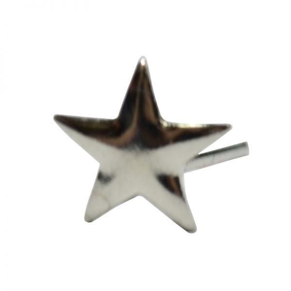 Gwiazdka Metalowa Srebrna na Pagon
