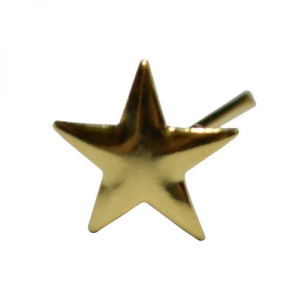Gwiazdka Metalowa Złota na Pagon