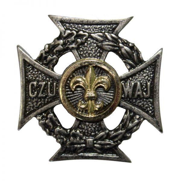 Krzyż Harcerski Złota Lilijka i Okrąg