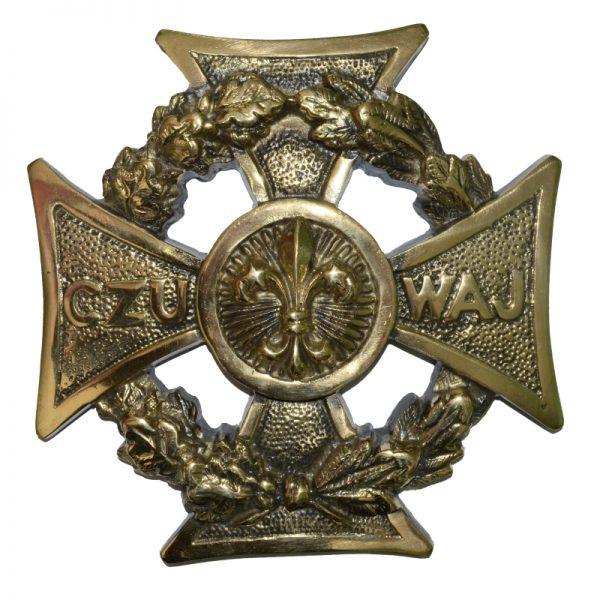 Krzyż Harcerski Ozdobny Mosiężny Duży