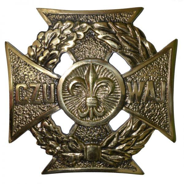 Krzyż Harcerski Ozdobny Mosiężny Mały
