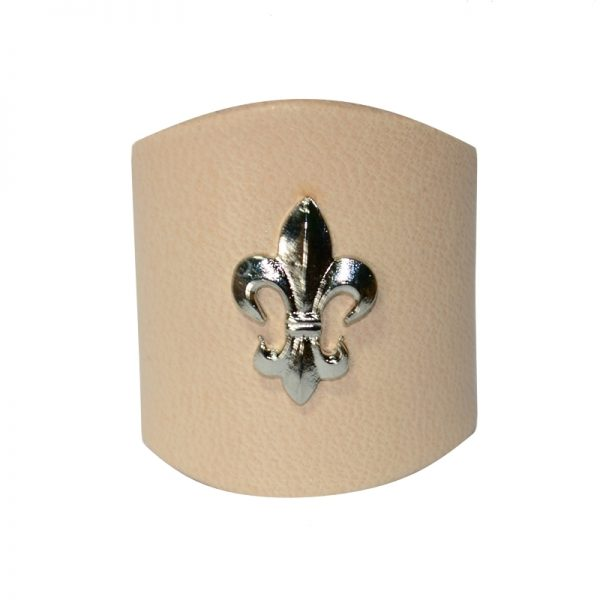 Pierścień Jasny z Lilijką Metalową Srebną