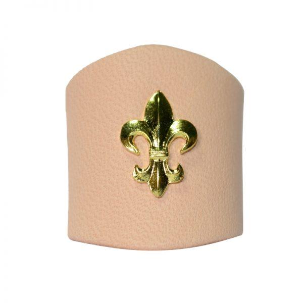 Pierścień Jasny z Lilijką Metalową Złotą