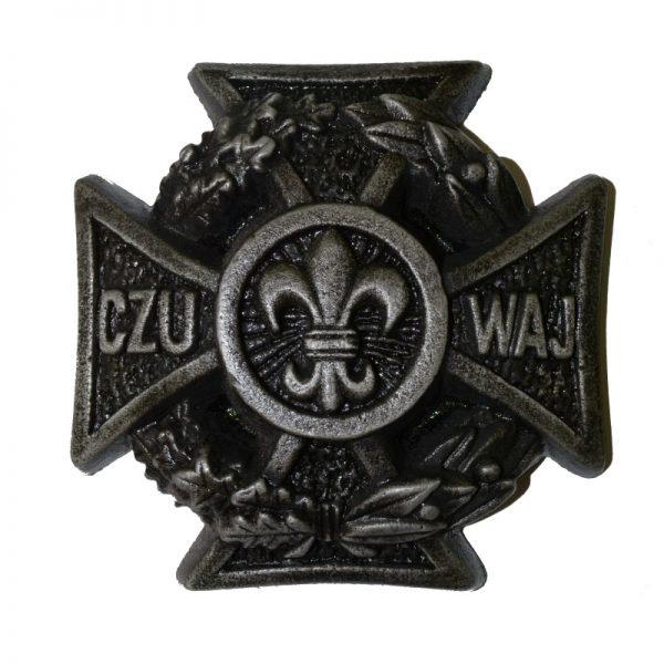 Krzyż Harcerski Ozdobny Aluminiowy Duży