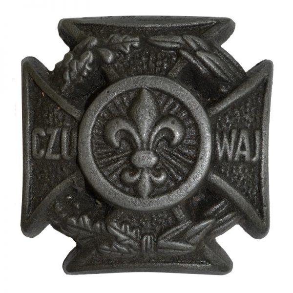 Krzyż Harcerski Ozdobny Aluminiowy Mały