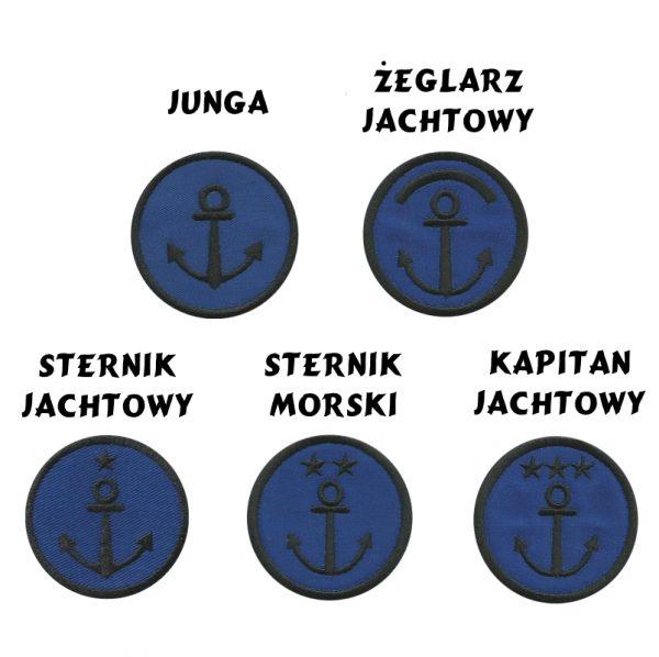 Plakietka Odznaka Stopni Żeglarskich